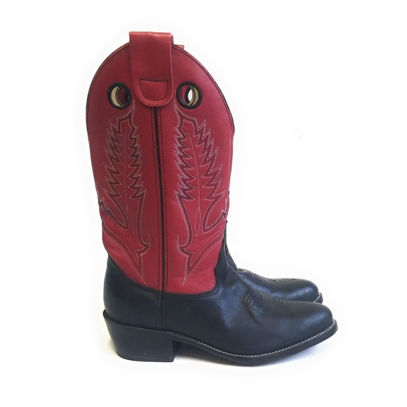 b091e448223 DURANGO Red & Black Cowboy Boots 8.5 M / 10.5 W